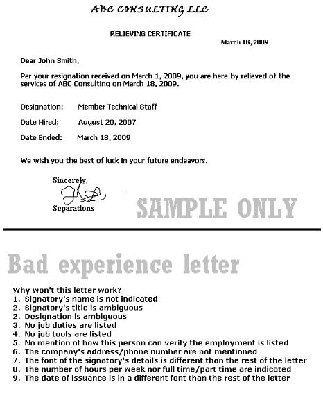 experience letter for green card joseph kallabat amp associates p c immigration attorney 21647 | samplebadexpltr